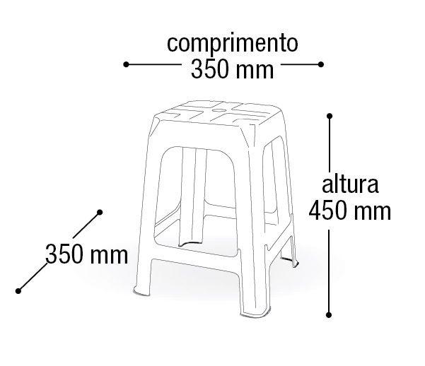 Kit 5 Bancos/Banquetas Plástica Preta