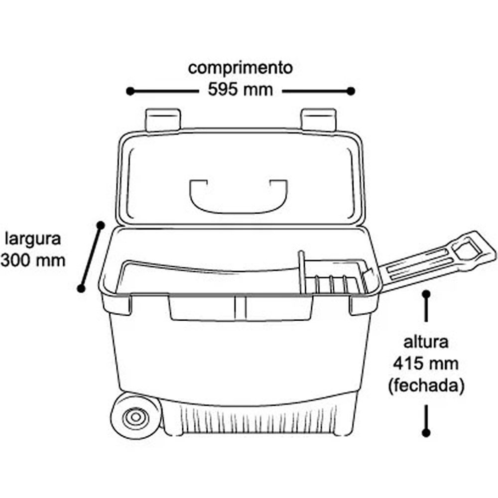Caixa Bau Ferramentas C/ Rodas Arqplast