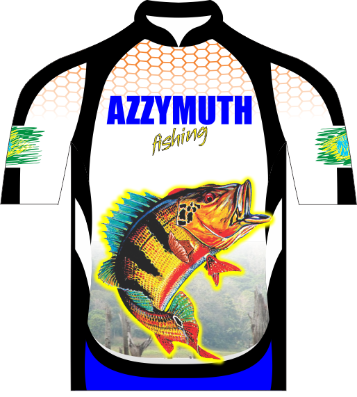 Camisa Pesca Manga Curta Branca Azzymuth Dry Fit