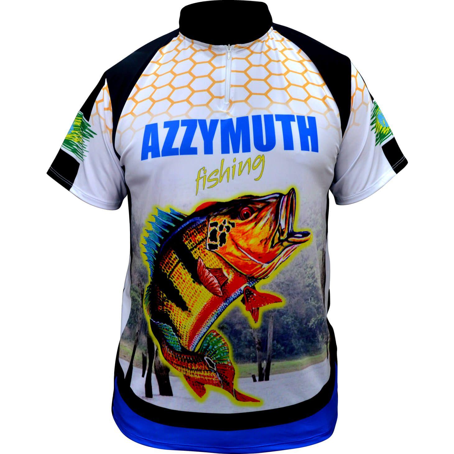 Camiseta Pesca Manga Curta Azzymuth Dry Fit Tucunaré
