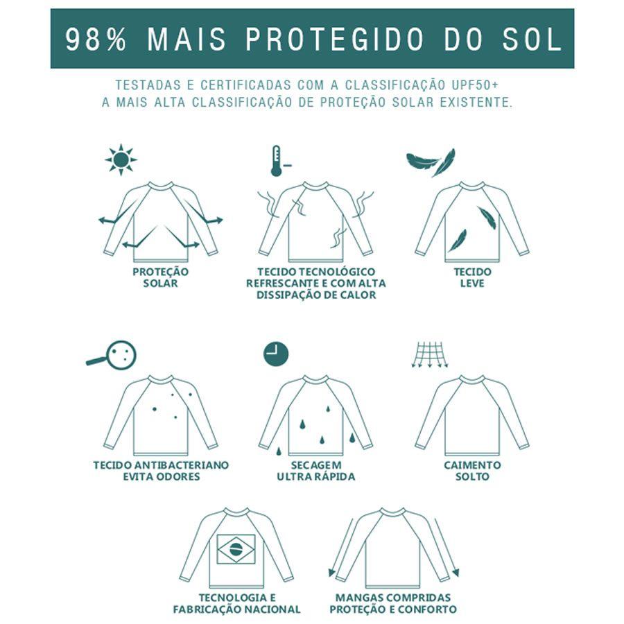 Camiseta Proteção Uv 50 + Infantil Prolife Laranja