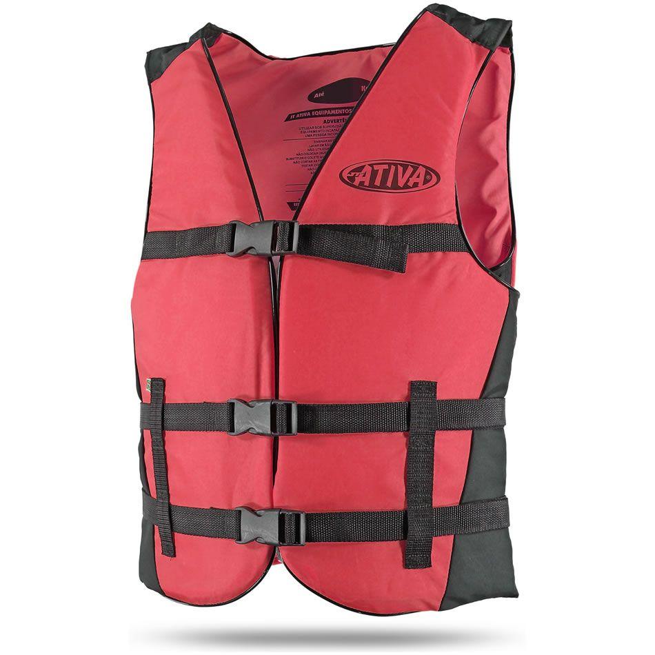 Colete Salva Vidas Auxiliar De Flutuação Jt Ativa Canoa 60kg