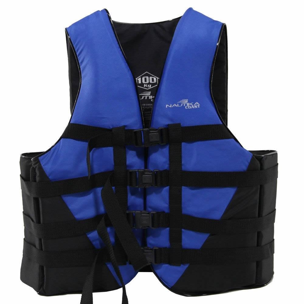 Colete Salva Vidas Coast Nautika 130kg Azul