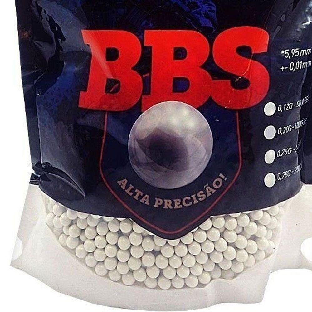 Esfera Plástica Bbs Brasil Equipamentos 0,12 Gr 6 mm 5000 Un