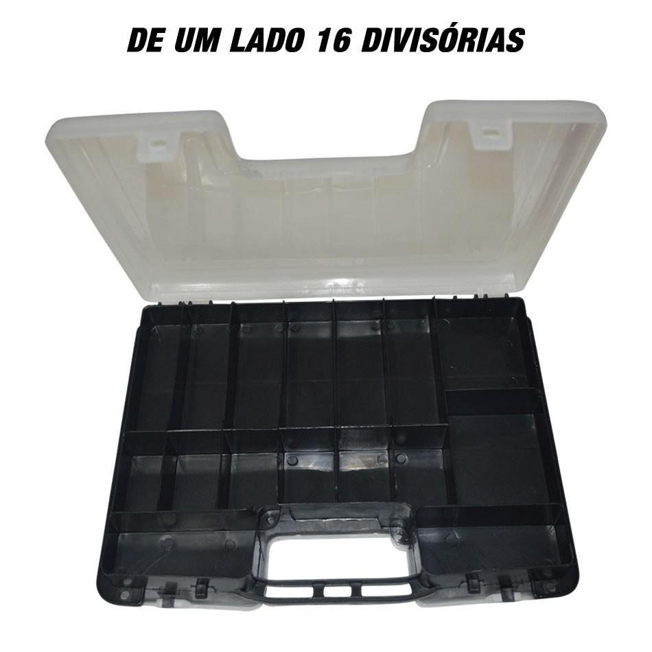 2 Estojos Organizadores Double Case - 2 Em 1 - 8001 - 11'' (28,5)