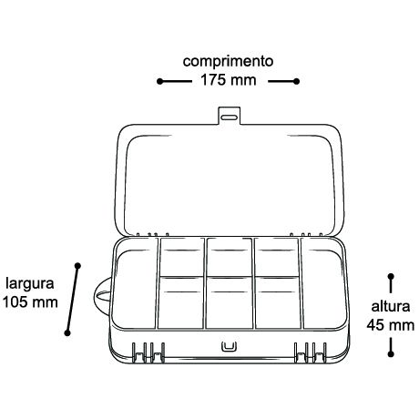 Estojo Organizador Mini Double Case 8002
