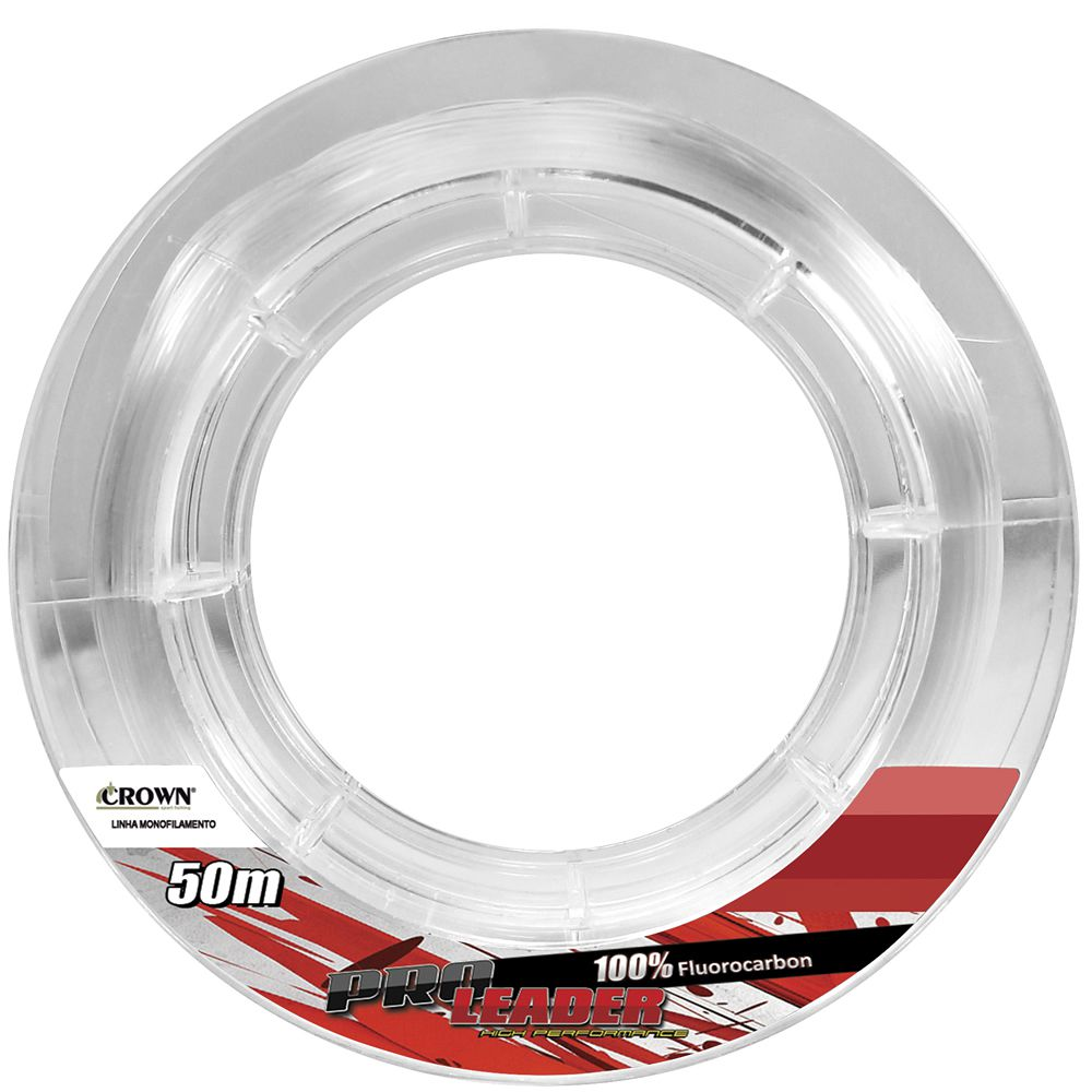 Fluorcarbono Crown Pro Leader 50 M 0,52 Mm 38 Lbs