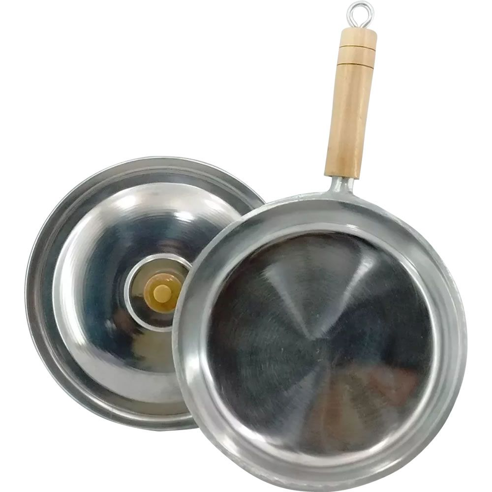 Frigideira Em Alumínio Batido Fundido N° 28 Com 6 Polimentos