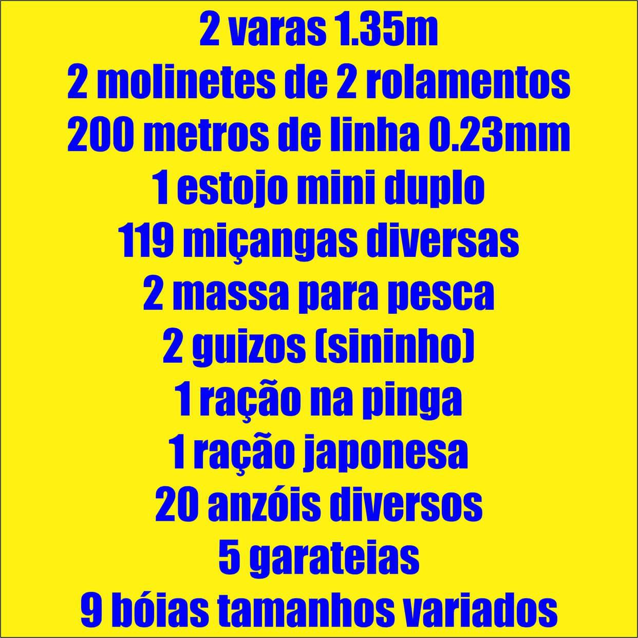 Kit De Pesquerio E Represa 2 Varas 2 Molinetes + Acessórios