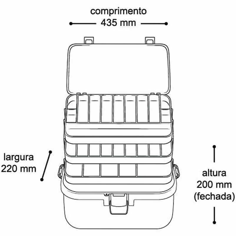 Kit Maleta Caixa Grande Com Rodas E Maleta Para Ferramenta