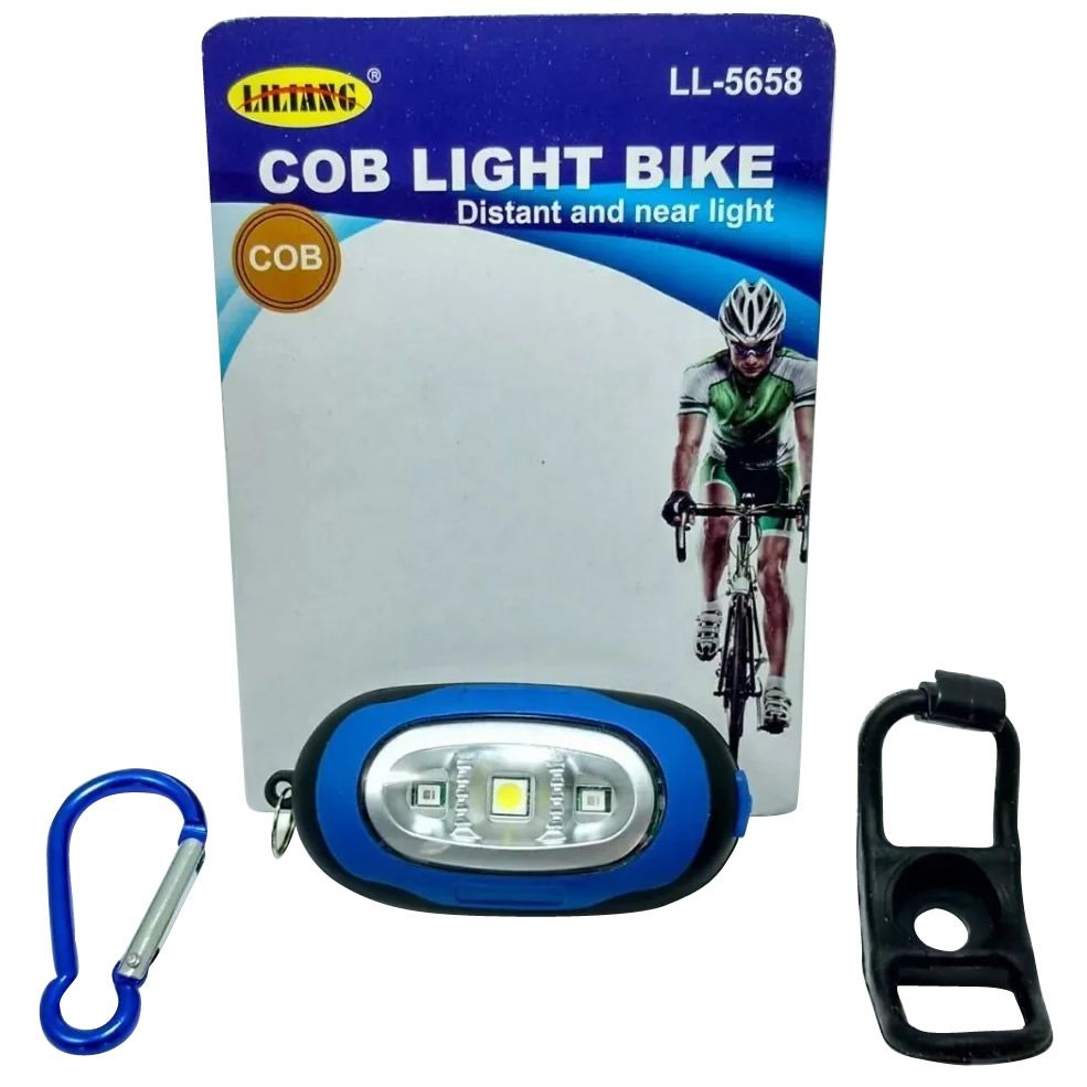 Lanterna Segurança Bike Led Cob 3 Leds Light 80 Lumens 5658