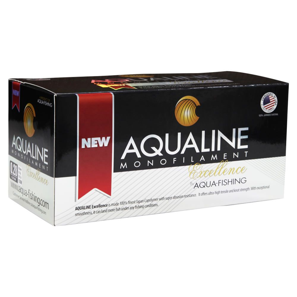 Linha Monofilamento Aquafishing Aqualine 0,43 Mm 29 Lb / 13,2 Kg - 100 M