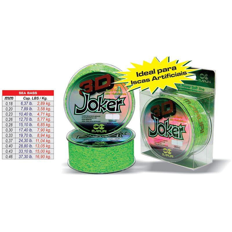 Linha Maruri 3d Joker 0,33 Mm - 19,70 Lbs - 8,94 Kg