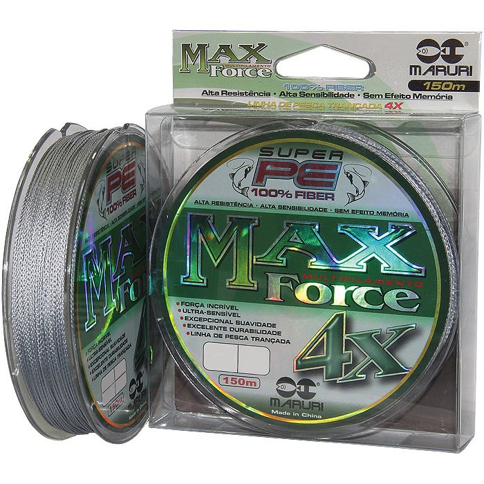 Linha Multifilamento Maruri Max Force X4 0,50 Mm 112lbs 150m