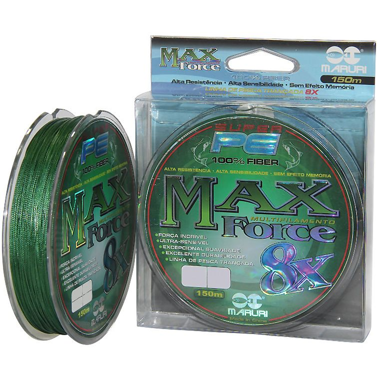 Linha Multifilamento Maruri Max Force X8 0,34 Mm 84 Lbs 150m
