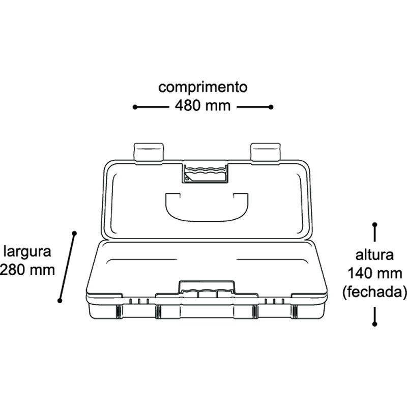 Maleta Master Box Para Furadeira / Parafusadeira 19'' Master