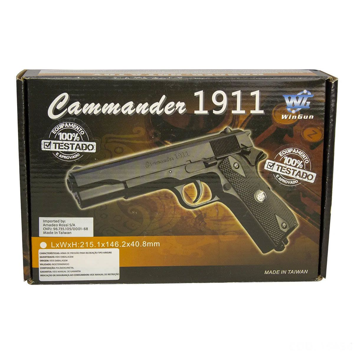 Pistola Airgun Rossi Co2 Wingun W125b 4.5 Mm