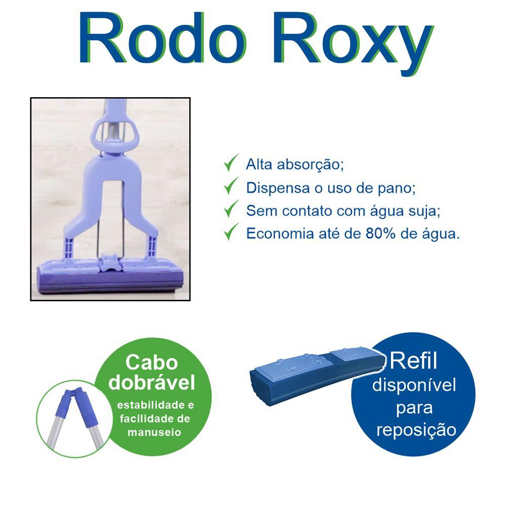 Rodo Mágico Roxy, Alumínio, Dobrável, Super Absorção