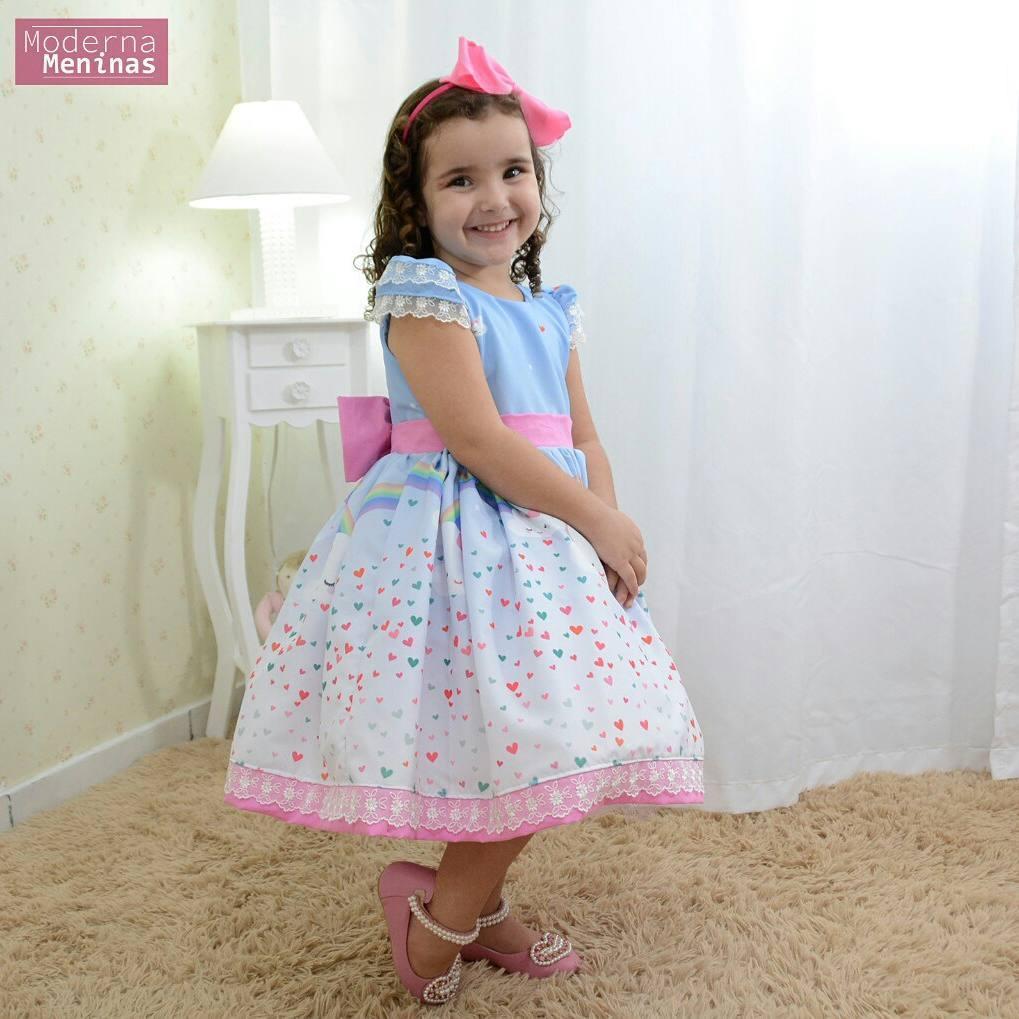 7c63d0189c Vestido festa infantil chuva de amor e bençãos