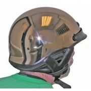 "Capacete ""Style Harley Davidson"" - Smocked Chrome - MD - SIMPSON"