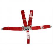 Cinto de Segurança 5 Pontas Fixação Individual Engate Mecânico Vermelho