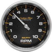 "Contagiros 10.000 Rpm - Elétrico - 5"" - Carbon Fiber - AUTO METER"