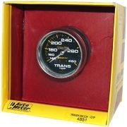 """Instrumento Medir Temperatura Transmissão 140º - 280º F - Mecãnico - 2 5/8"""" - Carbon Fiber - 8 Ft. - AUTO METER"""