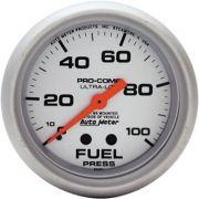 "Manômetro Pressão Combustível 0 - 100 PSI - Mecânico - 2"" 5/8"" - Ultra-Lite - AUTO METER"