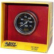 """Manômetro Pressão de Ar 0 - 150 PSI - Mecânico - 2"""" 1/16"""" - Carbon Fiber - AUTO METER"""