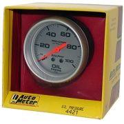 "Manômetro Pressão de Óleo 0 - 100 PSI - Mecânico - 2"" 5/8"" - Ultra-Lite - AUTO METER"
