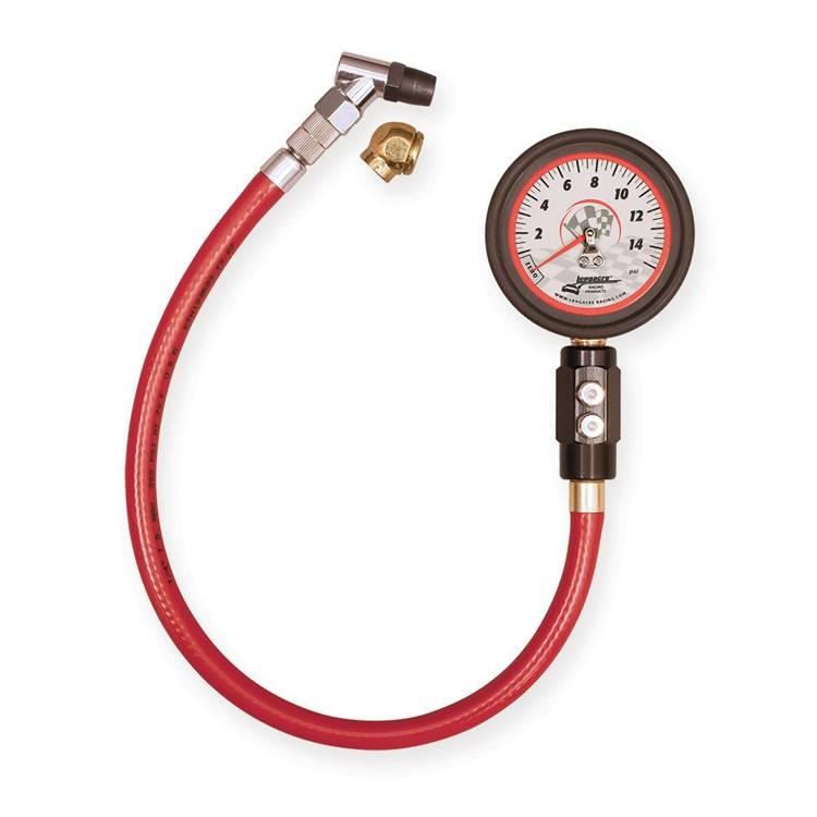 """Calibrador Pneu Fosforescente de Luxo 2-1/2"""" - 0 a 15 PSI  - PRO-1 Serious Performance"""
