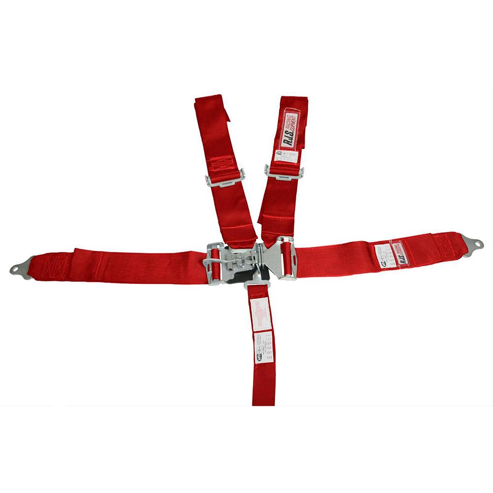 Cinto de Segurança 5 Pontas Fixação Individual Engate Mecânico Vermelho  - PRO-1 Serious Performance
