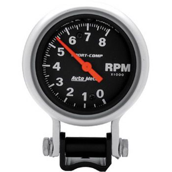 "Contagiros 8000 Rpm - Elétrico - 2 5/8"" - Sport Comp - AUTO METER  - PRO-1 Serious Performance"