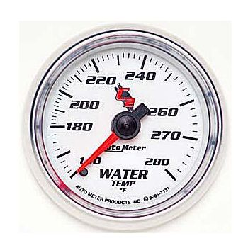 "Instrumento de Medir Temperatura de Água 140º - 280º F - Mecânico - 2"" 1/16"" - 6 Ft - C2 - AUTO METER  - PRO-1 Serious Performance"