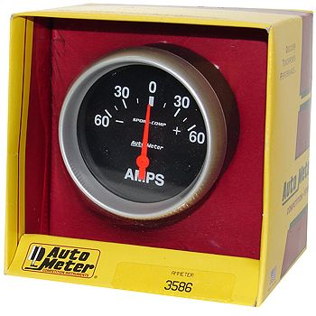 "Instrumento Medir Amperagem 0 - 60 Amps - Elétrico - 2 5/8"" - Sport Comp  - PRO-1 Serious Performance"