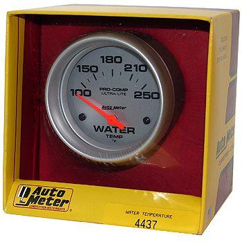 "Instrumento Medir Temperatura Água 100º - 250º F - Elétrico - 2 5/8"" - Ultra-Lite  - PRO-1 Serious Performance"