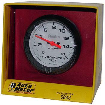 """Instrumento Medir Temperatura Gases Escape 0º - 1600º F - Elétrico -2"""" 5/8"""" - Phantom  - PRO-1 Serious Performance"""