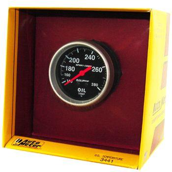 "Instrumento Temperatura de Óleo - Mecânico - 2"" 5/8"" - Imperial - Sport Comp  - AUTO METER  - PRO-1 Serious Performance"