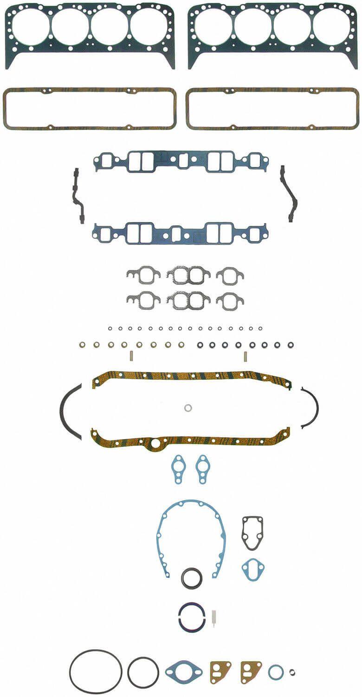 Jogo de Juntas para Chevrolet V8 Small Block 1ª Geração  - FELPRO  - PRO-1 Serious Performance