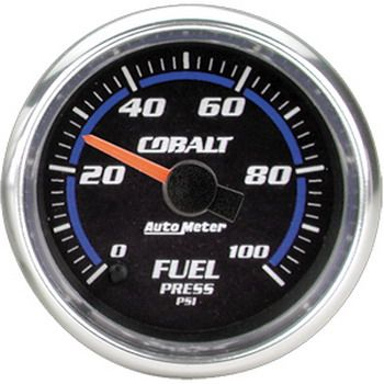 "Manômetro Pressão Combustível 0 - 100 PSI - Elétrico - 2"" 1/16"" - Cobalt - AUTO METER  - PRO-1 Serious Performance"