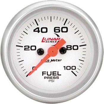 "Manômetro Pressão Combustível 0 - 100 PSI - Elétrico - 2 1/16"" - Lunar - AUTO METER  - PRO-1 Serious Performance"