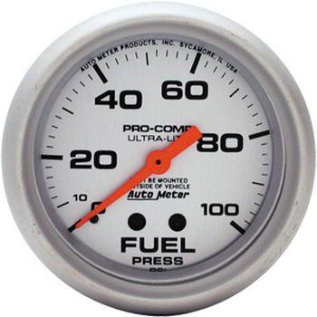 "Manômetro Pressão Combustível 0 - 100 PSI - Mecânico - 2"" 5/8"" - Ultra-Lite - AUTO METER  - PRO-1 Serious Performance"