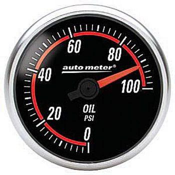 """Manômetro Pressão de Óleo 0 - 100 PSI - Digital - 2"""" 1/16""""- Nexus - AUTO METER  - PRO-1 Serious Performance"""