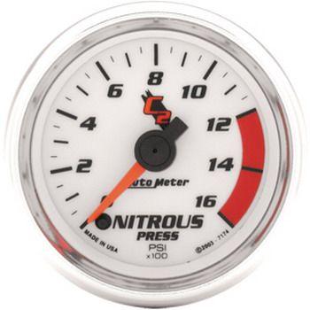 "Manômetro Pressão Nitro 0 - 1600 PSI - Elétrico - 2"" 1/16"" - C2  - PRO-1 Serious Performance"