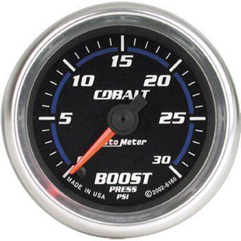 "Manômetro Pressão Turbo 0 - 35 PSI - Elétrico - 2"" 1/16"" - Cobalt - AUTO METER  - PRO-1 Serious Performance"
