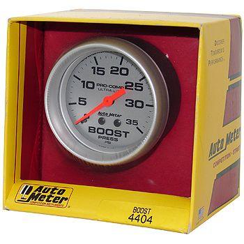 "Manômetro Pressão Turbo 0 - 35 PSI - Mecânico - 2"" 5/8"" - Ultra-Lite  - PRO-1 Serious Performance"