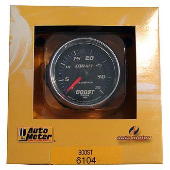 "Manômetro Pressão Turbo-Vácuo 0-35 PSI - Mecânico - 2"" 1/16"" - Cobalt - AUTO METER  - PRO-1 Serious Performance"