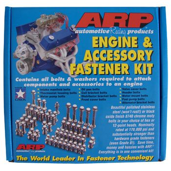 Parafuso Externos Kit Oxidado Preto de Chevrolet Small Block - Oxidado Preto - ARP  - PRO-1 Serious Performance