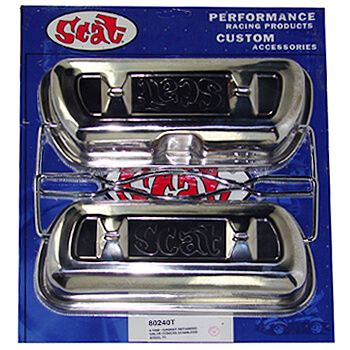 Tampa de Válvulas Par (Hi-Lift) em Aço Cromoly para VW/AR - Fixação Presilhas - SCAT  - PRO-1 Serious Performance