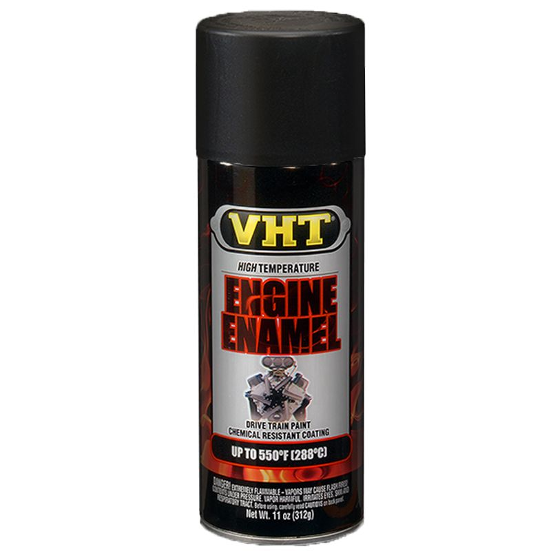 Tinta Spray Para Motor Preto Fosco 288°C - VHT  - PRO-1 Serious Performance